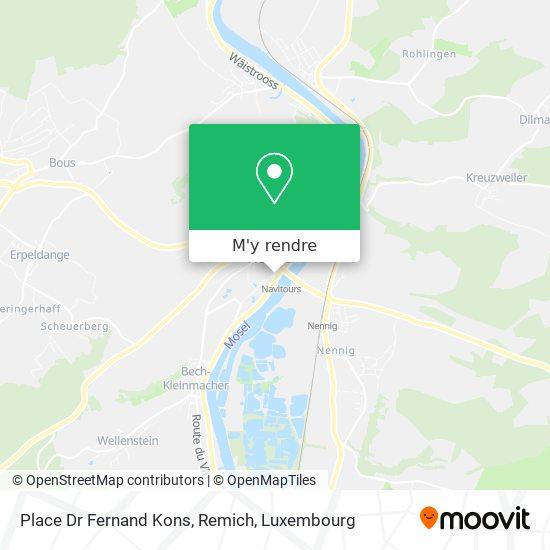Place Dr Fernand Kons, Remich plan