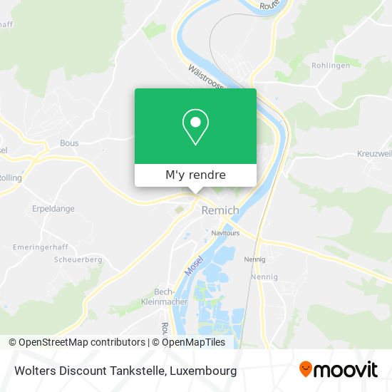Wolters Discount Tankstelle plan