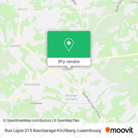 Bus Ligne 215 Bascharage-Kirchberg plan