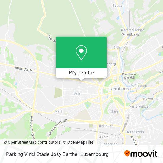 Parking Vinci Stade Josy Barthel plan