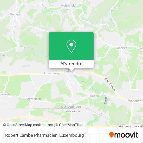 Robert Lambe Pharmacien plan
