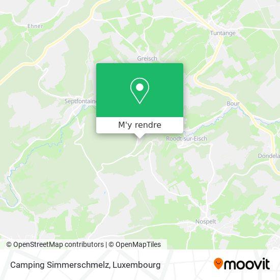 Camping Simmerschmelz plan