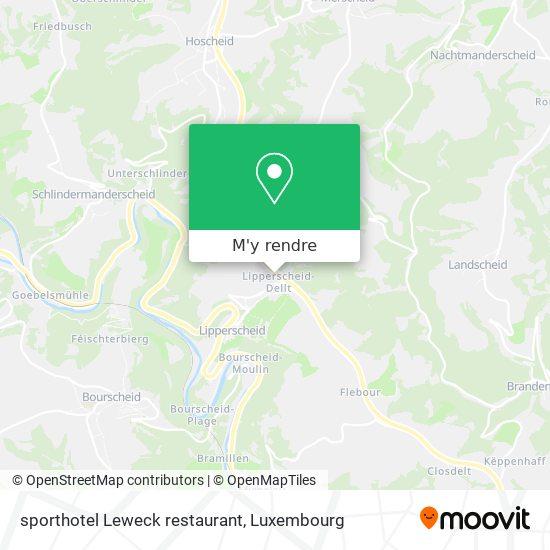 sporthotel Leweck restaurant plan