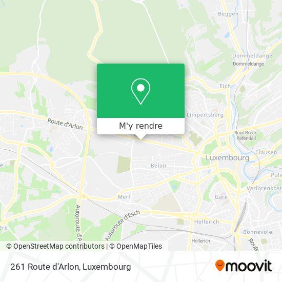 261 Route d'Arlon plan