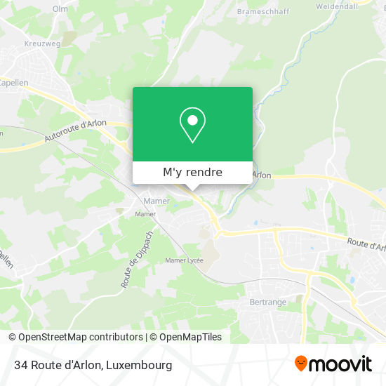 34 Route d'Arlon plan