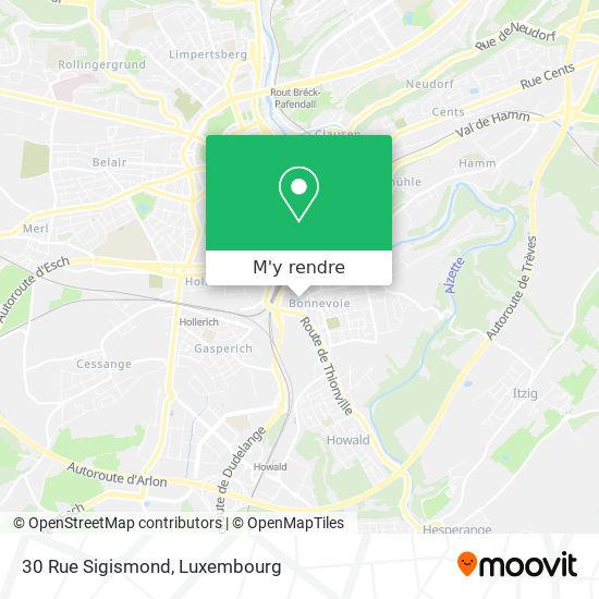 30 Rue Sigismond plan