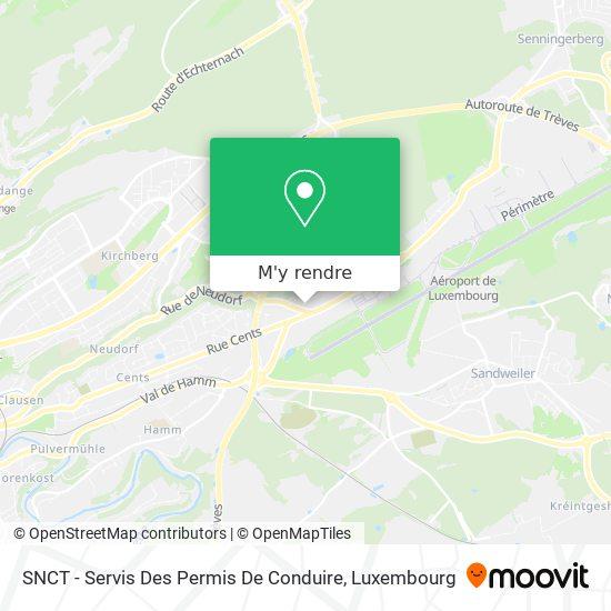 SNCT - Servis Des Permis De Conduire plan