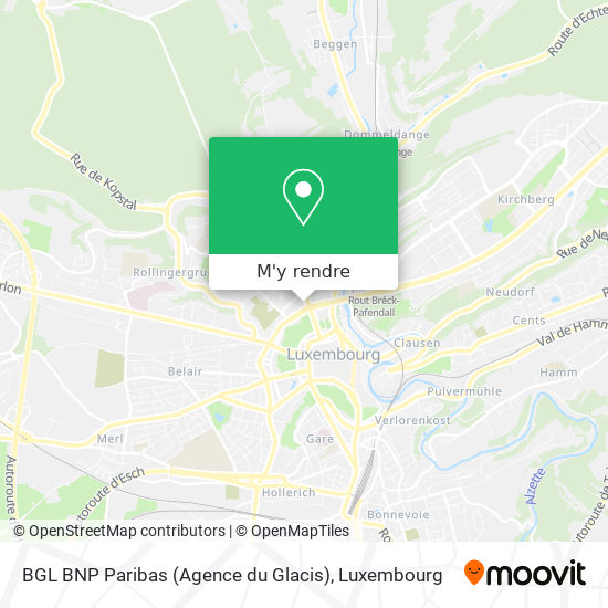 BGL BNP Paribas (Agence du Glacis) plan