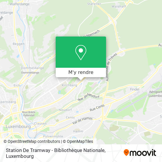Station De Tramway - Bibliothèque Nationale plan