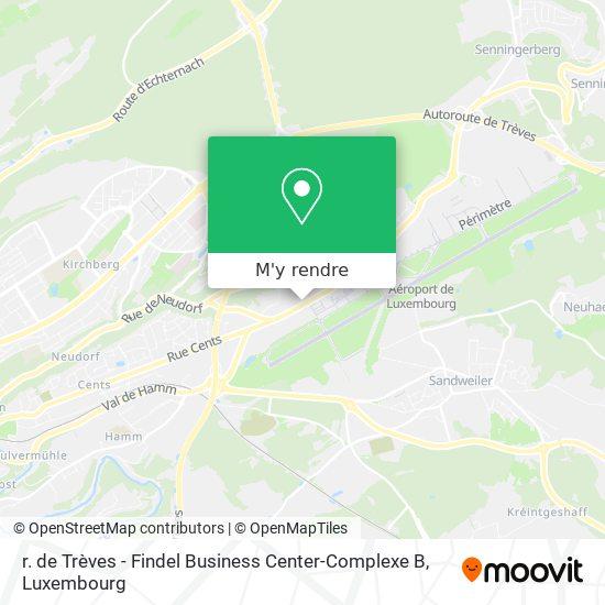 r. de Trèves - Findel Business Center-Complexe B plan