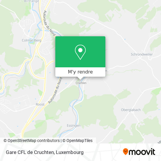 Gare CFL de Cruchten plan