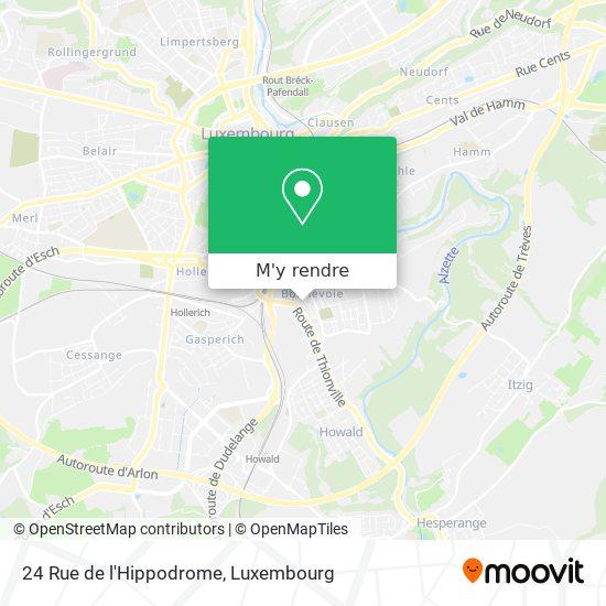 24 Rue de l'Hippodrome plan