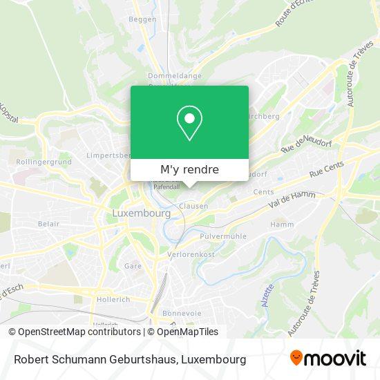 Robert Schumann Geburtshaus plan