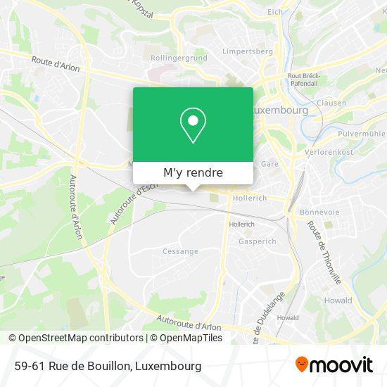 59-61 Rue de Bouillon plan