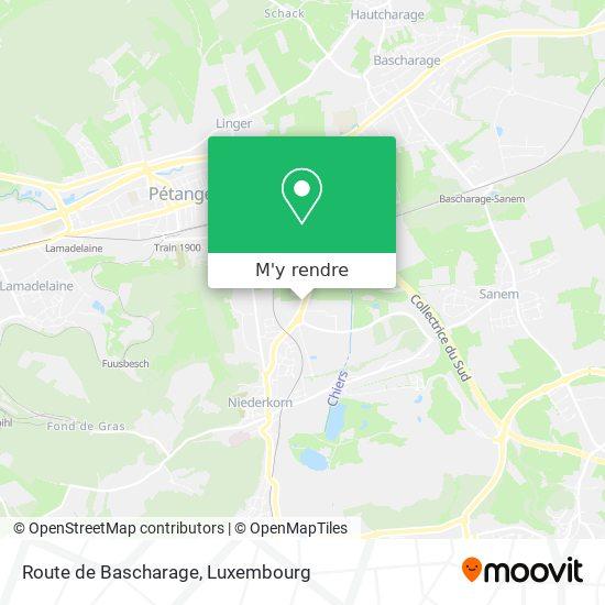 Route de Bascharage plan