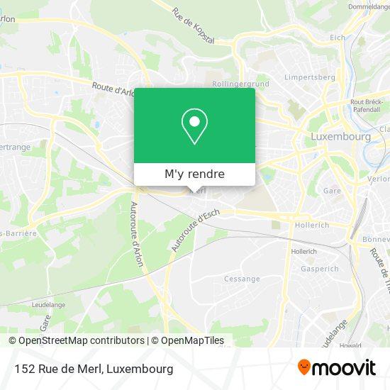 152 Rue de Merl plan