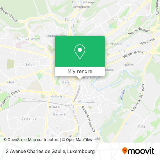 2 Avenue Charles de Gaulle plan