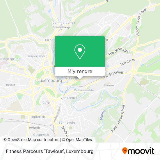 Fitness Parcours 'Tawioun' plan