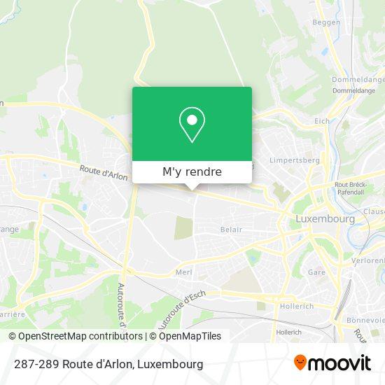 287-289 Route d'Arlon plan