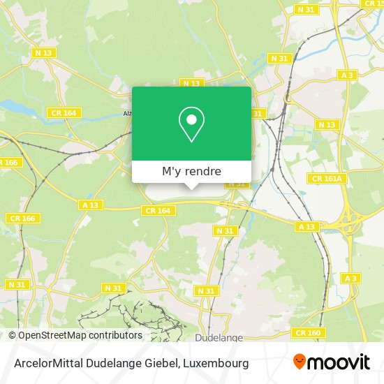ArcelorMittal Dudelange Giebel plan