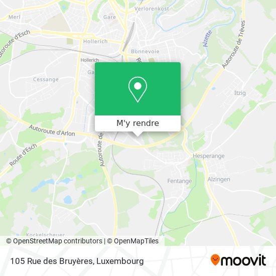 105 Rue des Bruyères plan