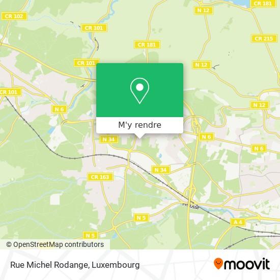 Rue Michel Rodange plan