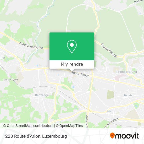 223 Route d'Arlon plan