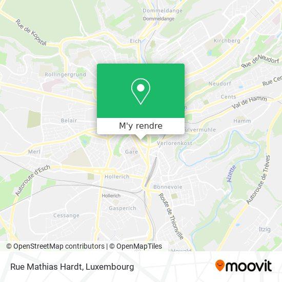 Rue Mathias Hardt plan