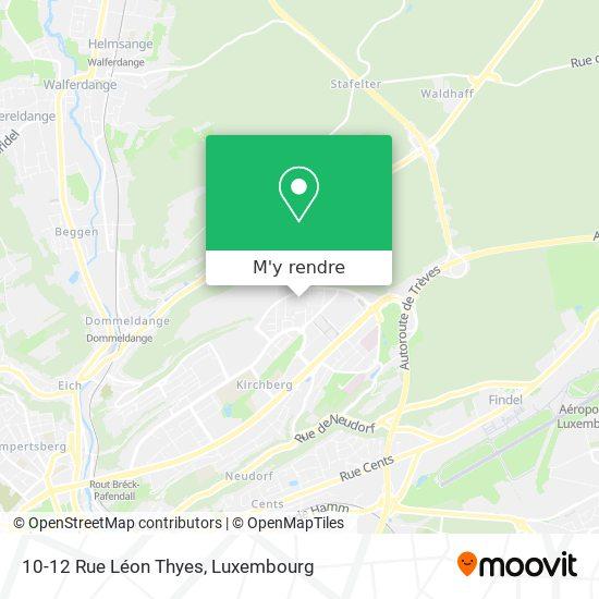 10-12 Rue Léon Thyes plan