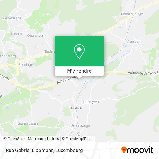 Rue Gabriel Lippmann plan