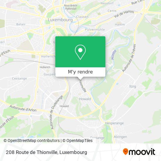 208 Route de Thionville plan