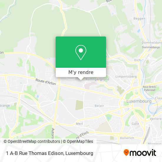 1 A-B Rue Thomas Edison plan