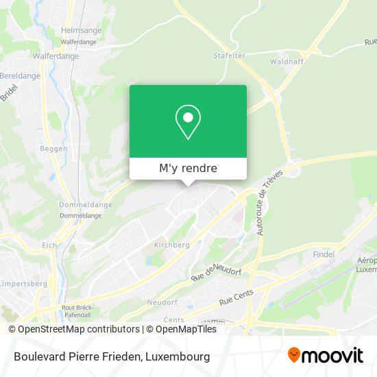 Boulevard Pierre Frieden plan
