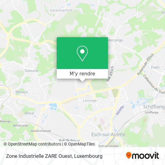 Zone Industrielle ZARE Ouest plan