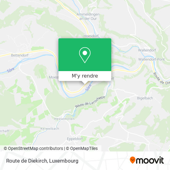 Route de Diekirch plan