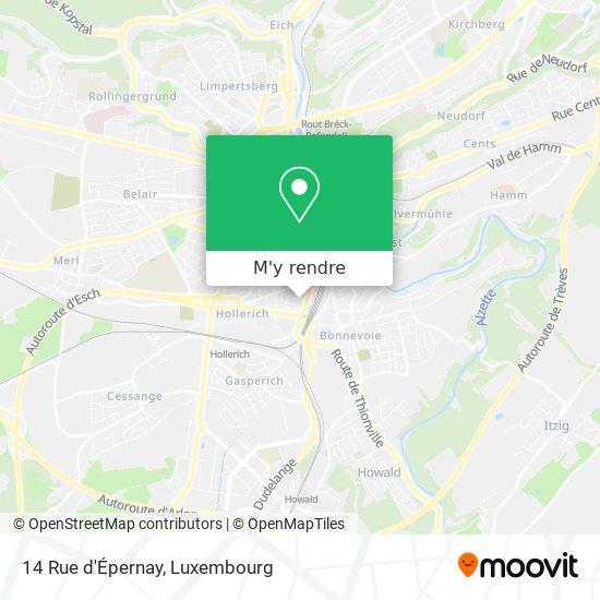 14 Rue d'Épernay plan