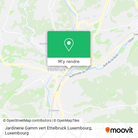 Jardinerie Gamm vert Ettelbruck Luxembourg plan