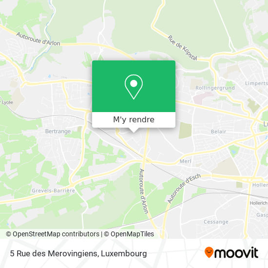 5 Rue des Merovingiens plan