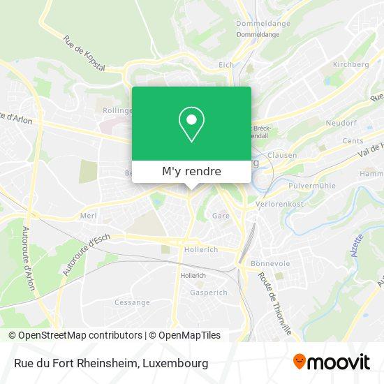 Rue du Fort Rheinsheim plan