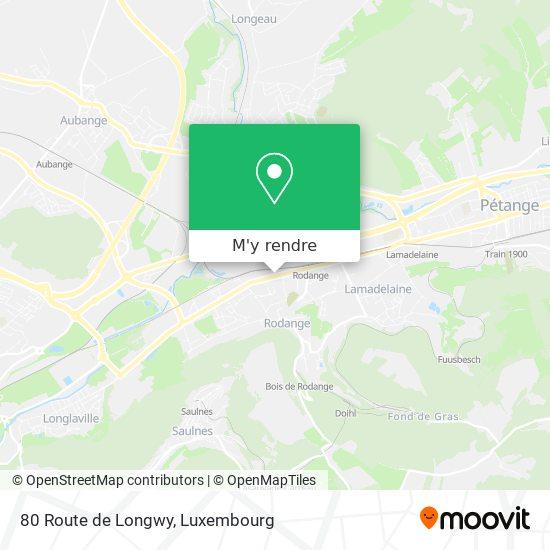 80 Route de Longwy plan