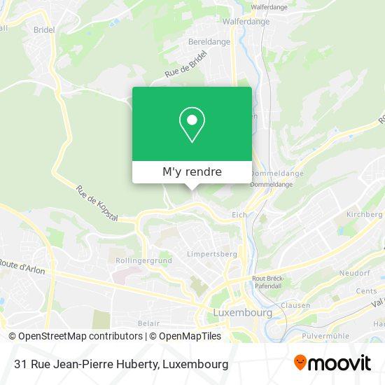 31 Rue Jean-Pierre Huberty plan