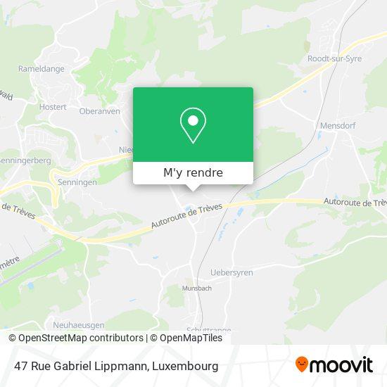 47 Rue Gabriel Lippmann plan