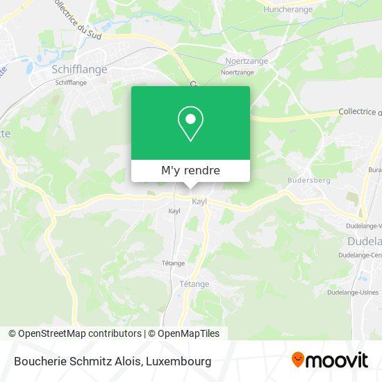 Boucherie Schmitz Alois, 48, Rue du Commerce 3616 Kayl plan