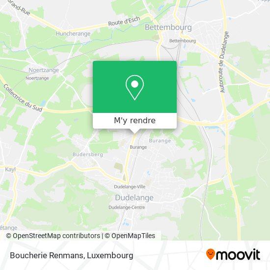 Boucherie Renmans, Route de Luxembourg 3515 Dudelange plan