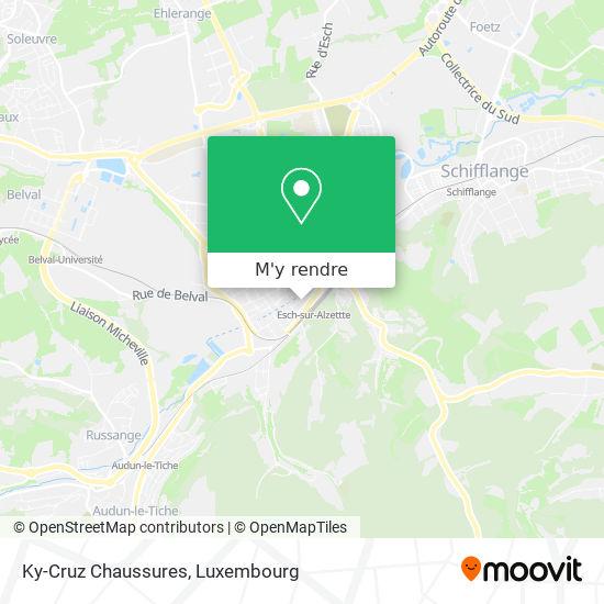 Ky-Cruz Chaussures, 17, Avenue de la Gare 4131 Esch-sur-Alzette plan