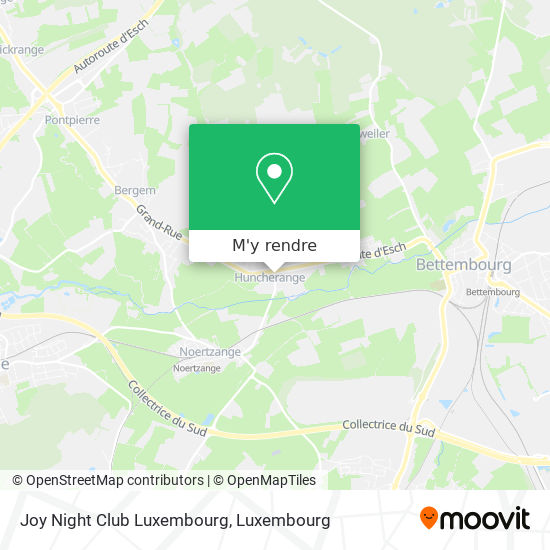 Joy Night Club Luxembourg plan