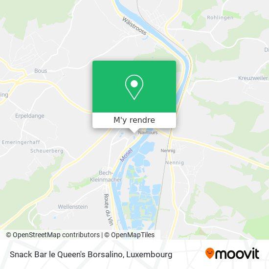 Snack Bar le Queen's Borsalino, 71, Rue de Macher 5550 Remich Luxembourg plan