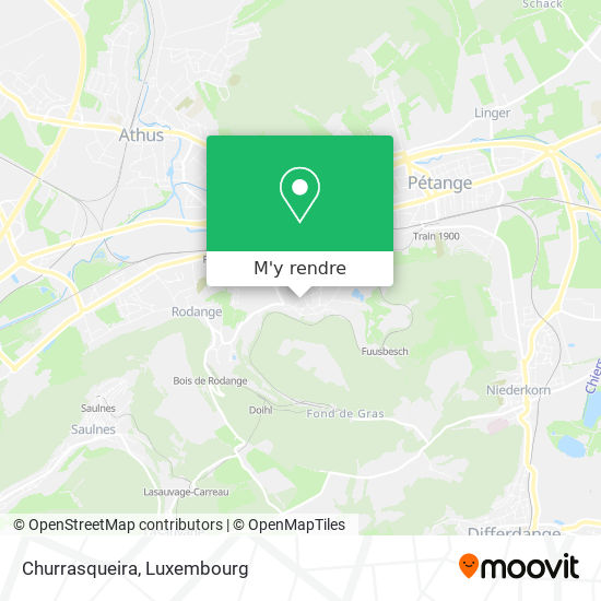 Churrasqueira, 31, Grand-Rue 4874 Pétange plan