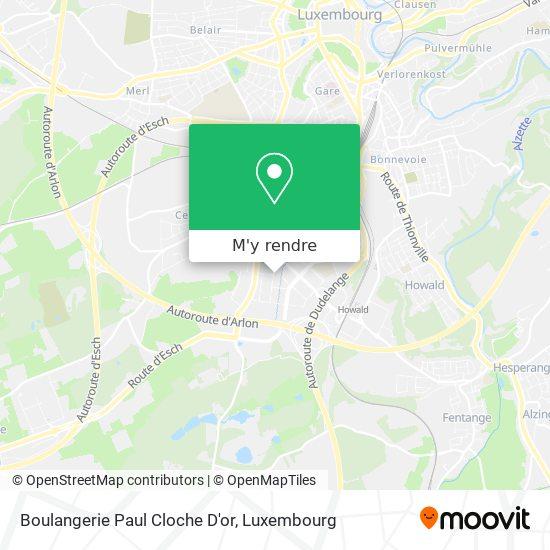 Boulangerie Paul Cloche D'or, 5, Rue Robert Stumper 2557 Luxembourg plan