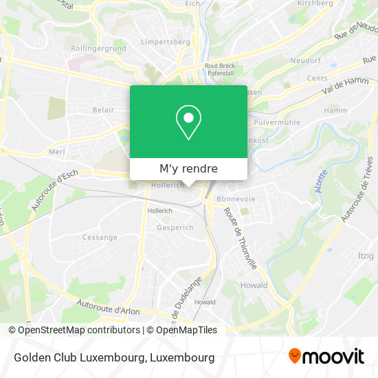 Golden Club Luxembourg, 1, Rue Joseph Heintz 1722 Luxembourg plan